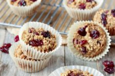 DIY dairy free cherry and vanilla baked oatmeal cups