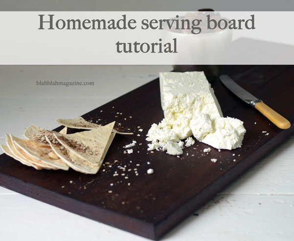 DIY dark stained wood serving board (via blahblahmagazine.com.au)