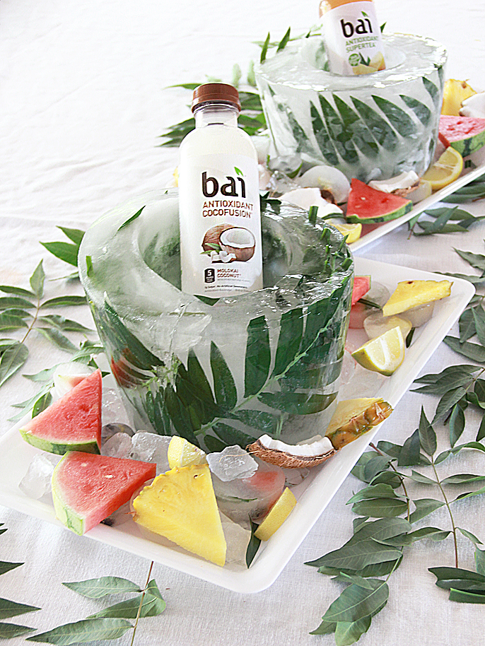 DIY palm leaf ice bucket (via www.abubblylife.com)