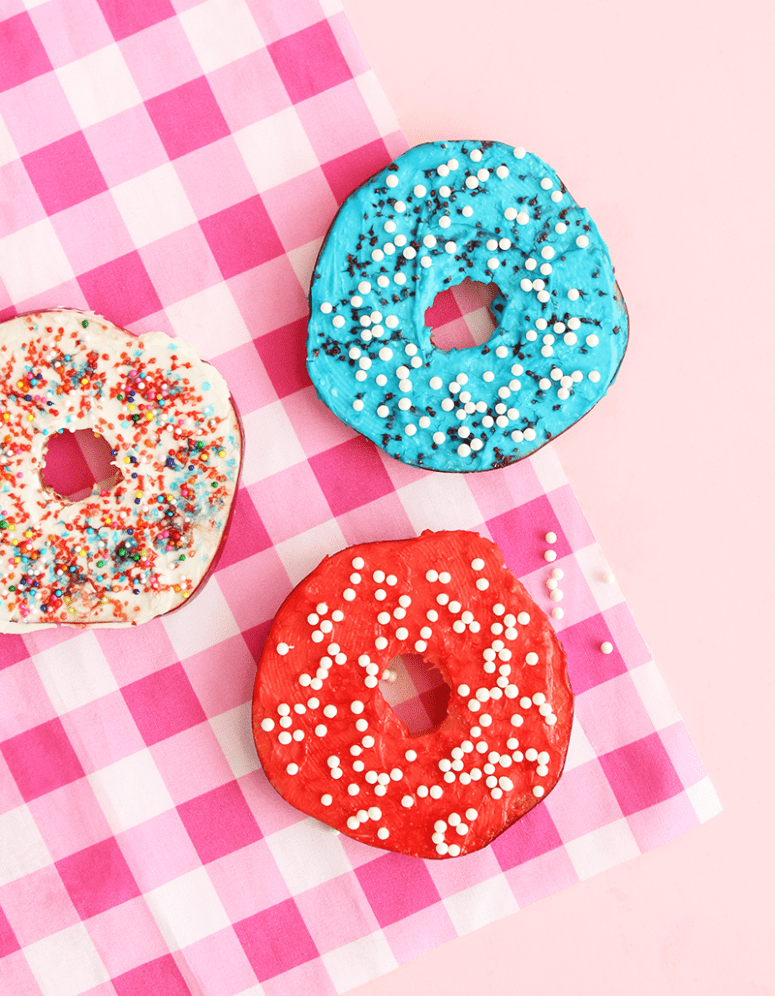 DIY red, blue and white donuts (via glitterandbubbles.com)