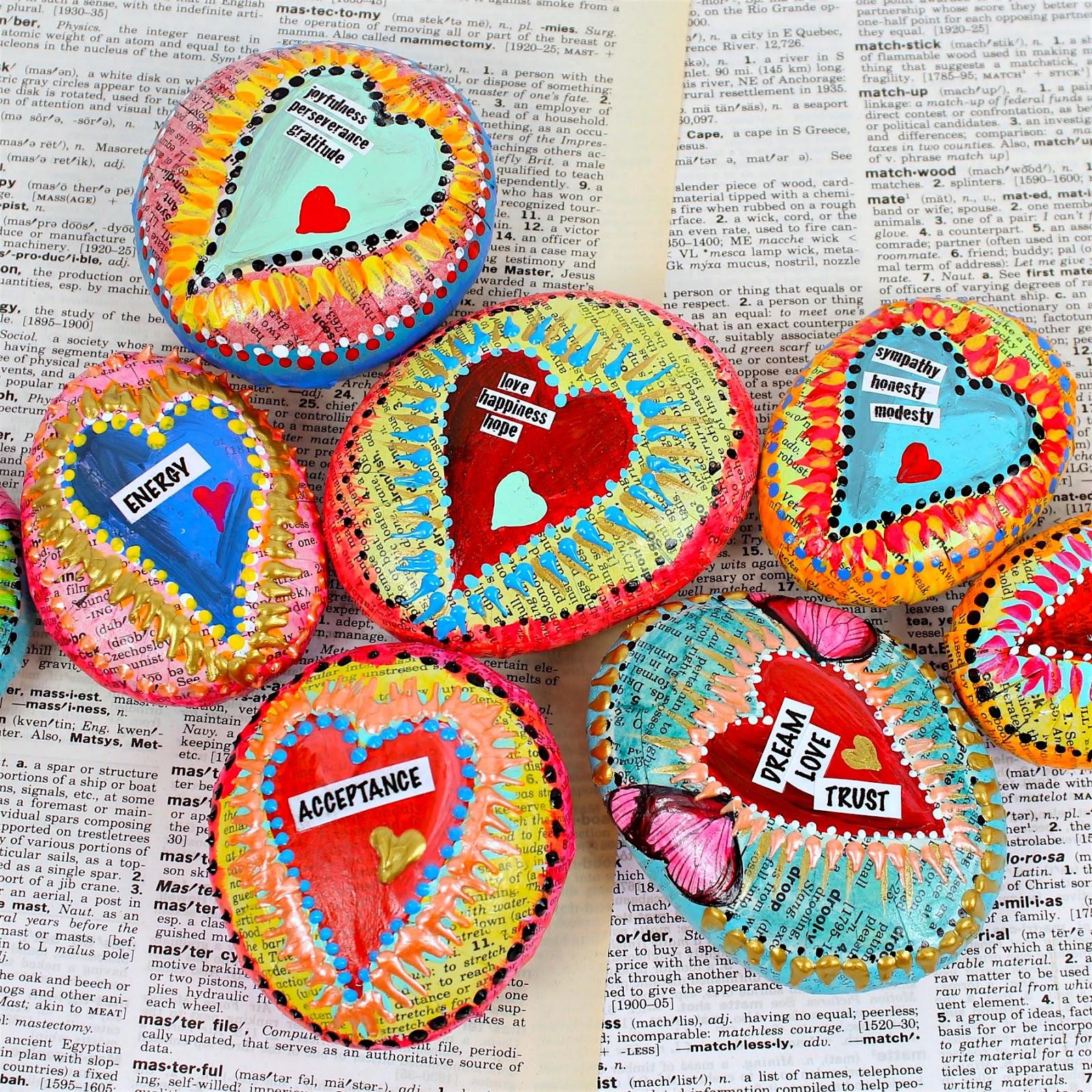 colorful DIY affirmation stones