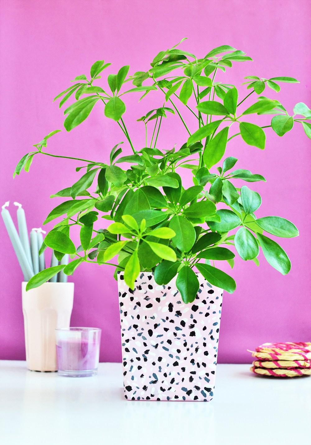 DIY terrazzo tile inspired planter