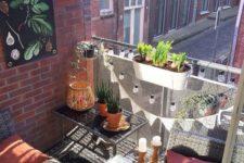 cozy small balcony