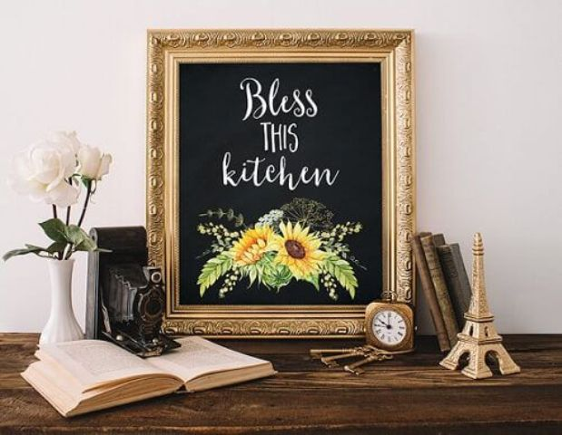 a mesmerizing sunflower kitchen wall art piece can be DIYed