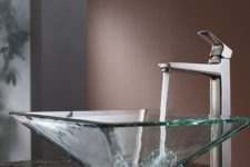 05 a square sheer glass sink is perfect for any modern or minimalist space