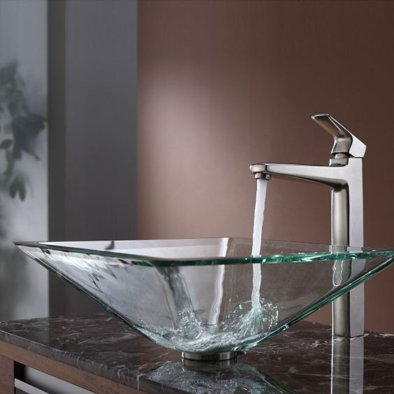A Square Sheer Glass Sink Is Perfect For Any Modern Or Minimalist Space