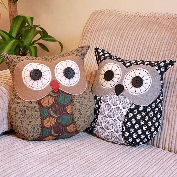 felt owl pillows will add coziness to your living room and your kids will love them