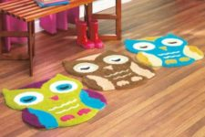 06 colorful owl rugs will spruce up any kids' space