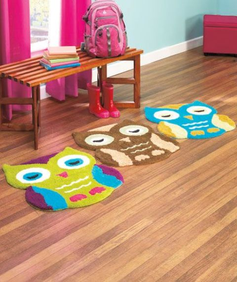 colorful owl rugs will spruce up any kids' space