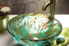 09 a beautiful swirl bowl sink in brown and emerald for a gorgeous statement