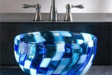 10 a blue mosaic glass sink looks really spectacular and eye-catchy
