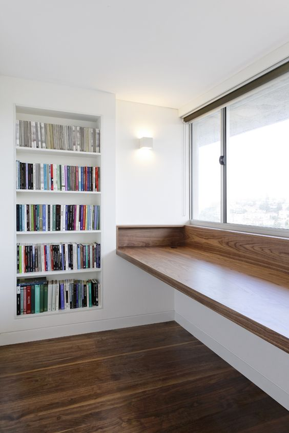 15 comfy windowsill desks for saving space shelterness Study table facing window