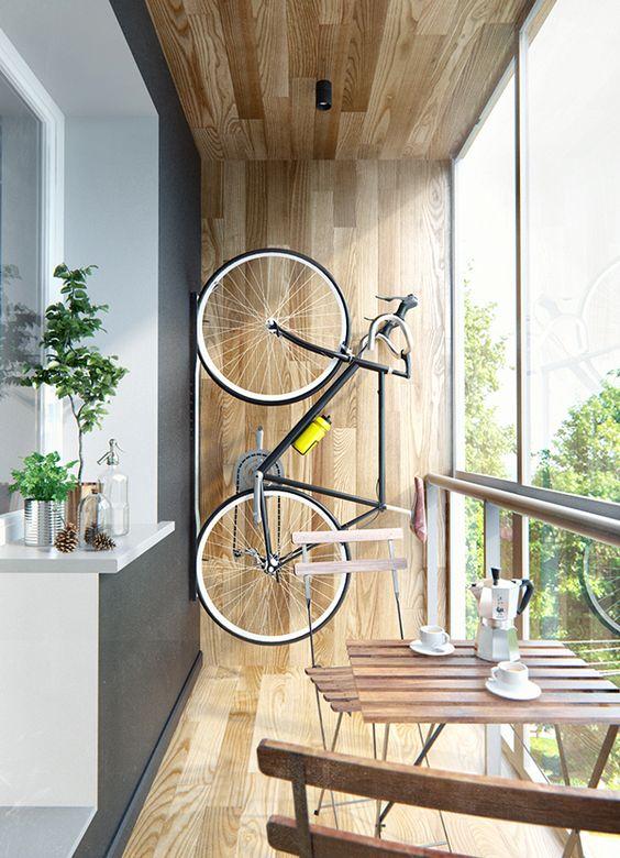 modern wooden balcony