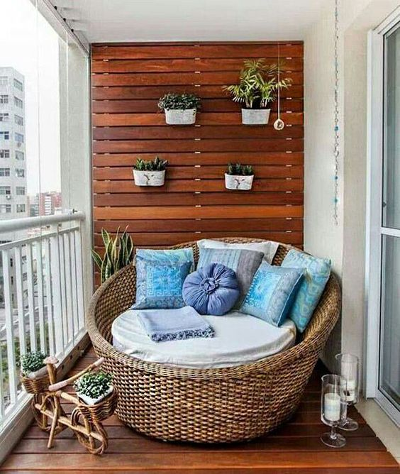 attach planters to the wall, and they won't need any floor space