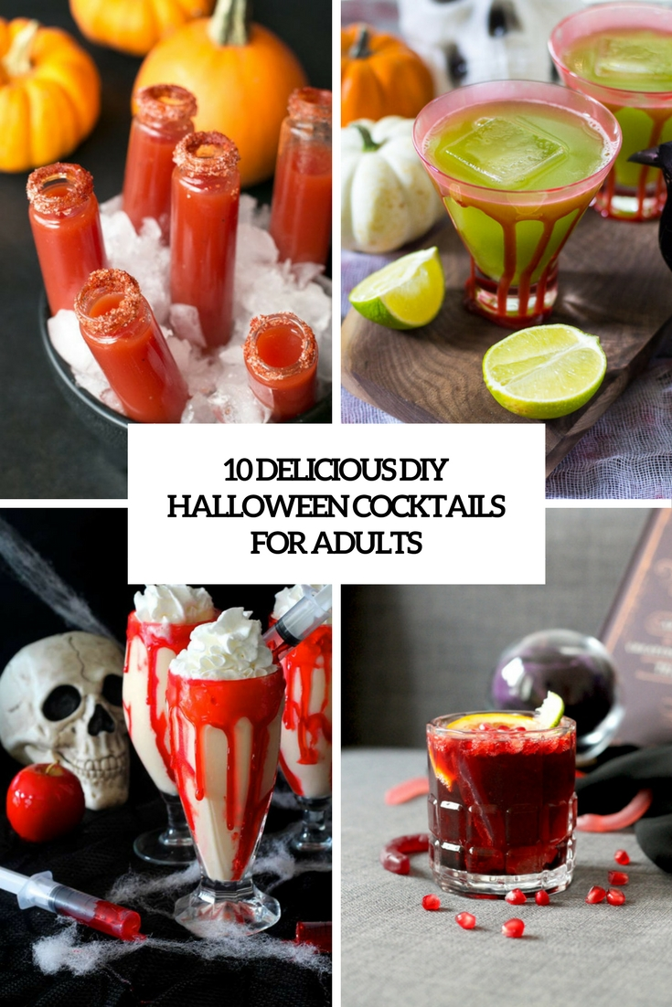 delicious diy halloween cocktails for adults cover