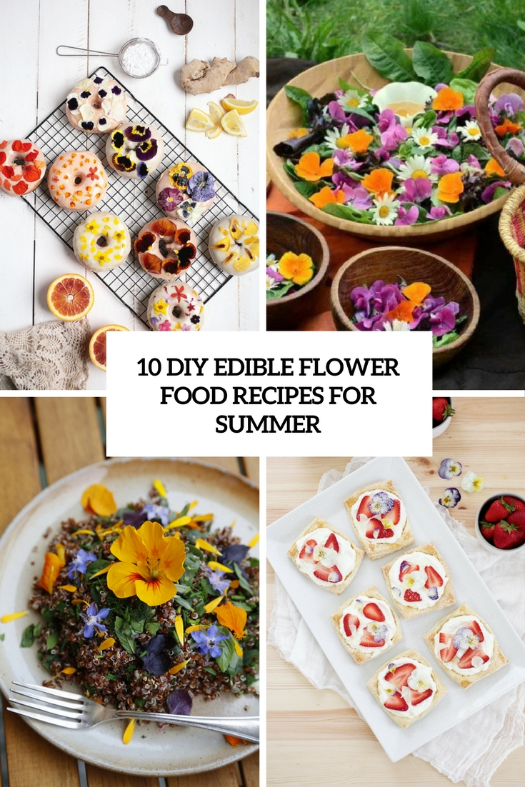 10 DIY Edible Flower Food Recipes For Summer