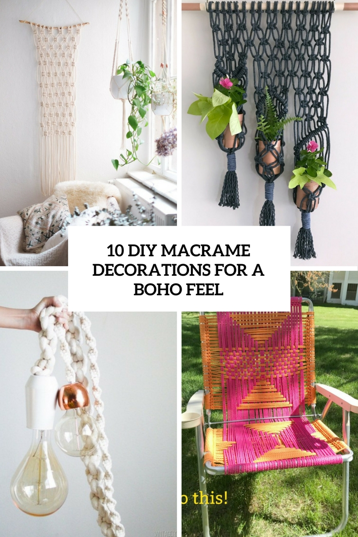 10 DIY Macrame Decorations For A Boho Feel