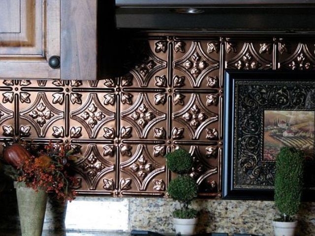 pressed tin copper tiles look very eye-catchy and refined