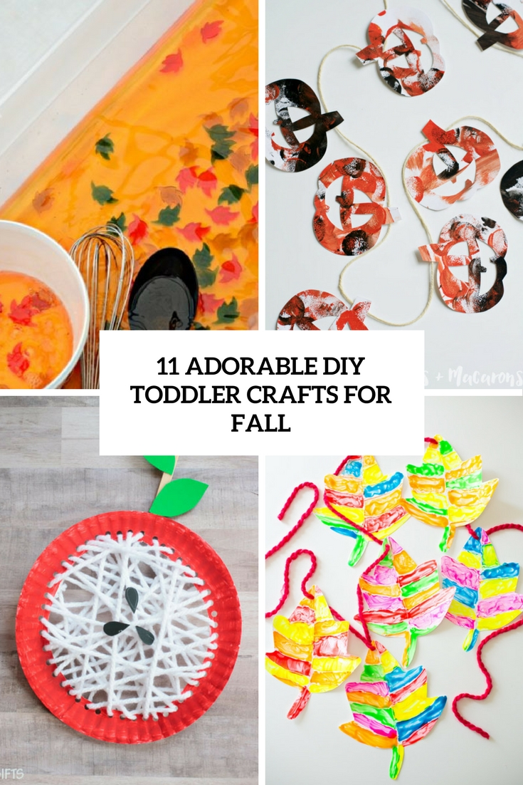adorable diy toddler crafts for fall cover