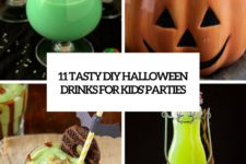 11 delicious diy halloween drinks for kids parties cover