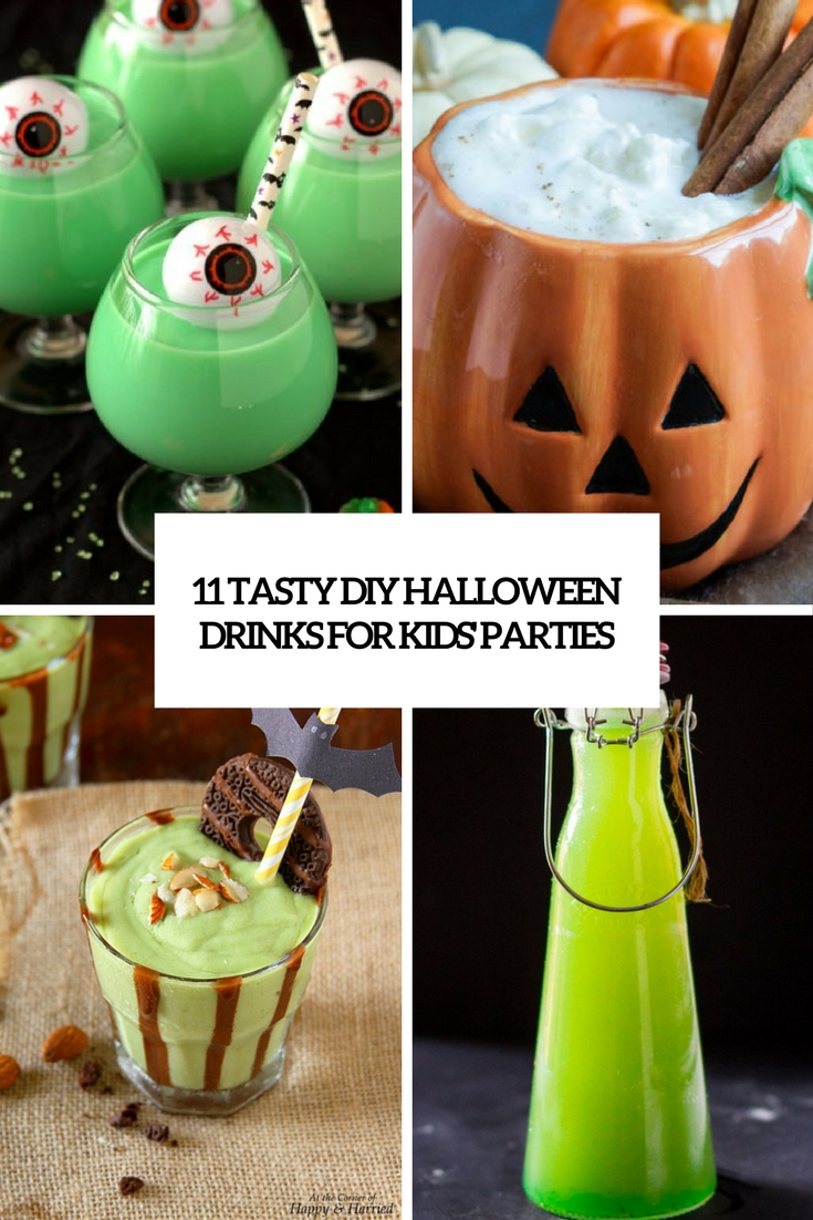 delicious diy halloween drinks for kids parties cover