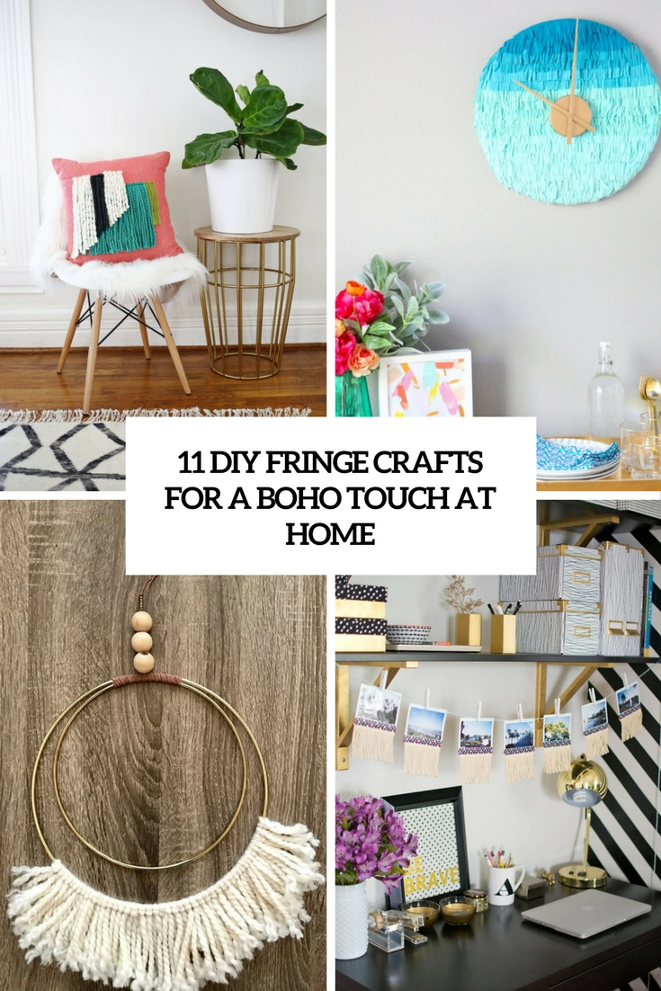 11 DIY Fringe Crafts For A Boho Touch At Home