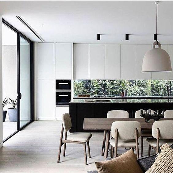 Matte Black Kitchen Cabinets: Hot Decor Trend: 15 Window Kitchen Backsplashes