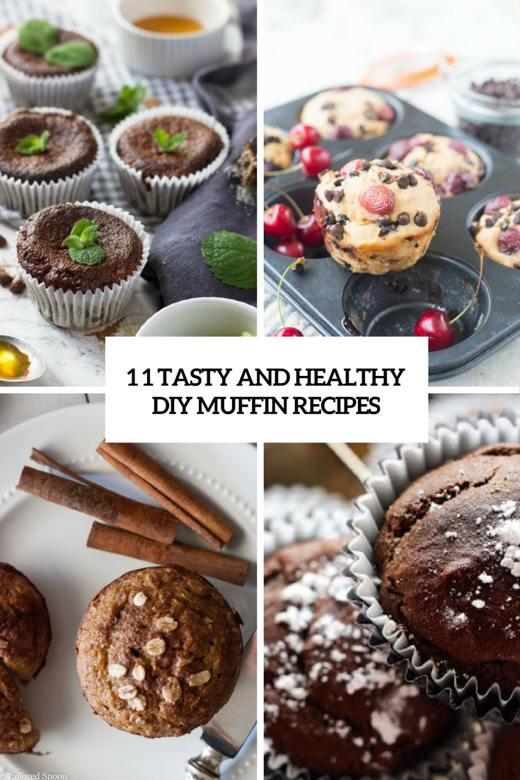 tasty and healthy diy muffin recipes cover