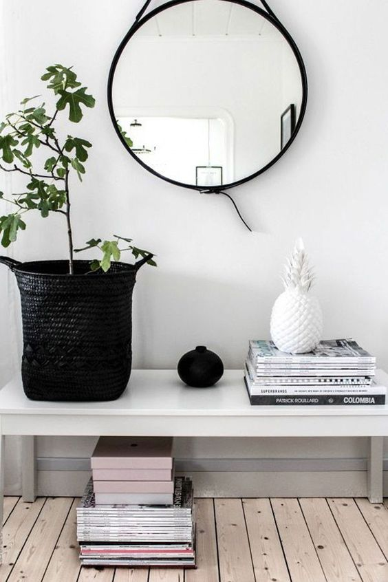 a simple white bench will fit many spaces and you can easily DIY it