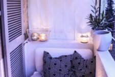 15 candle lanterns hanging here and there is a cute idea that will bring coziness