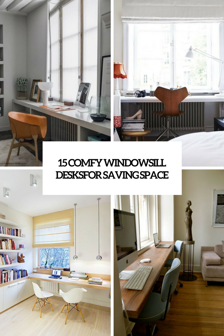 15 Comfy Windowsill Desks For Saving Space