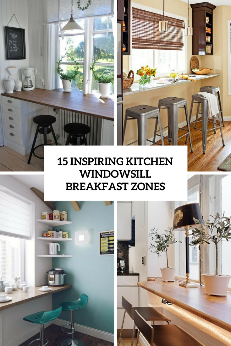 15 Inspiring Kitchen Windowsill Breakfast Zones