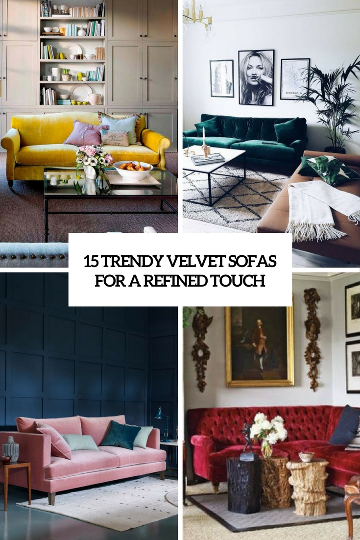 15 Trendy Velvet Sofas For A Refined Touch