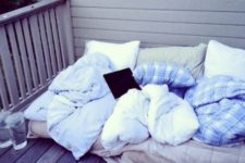 16 throw a large mattress on the balcony, add blankets and pillows and enjoy spending time here