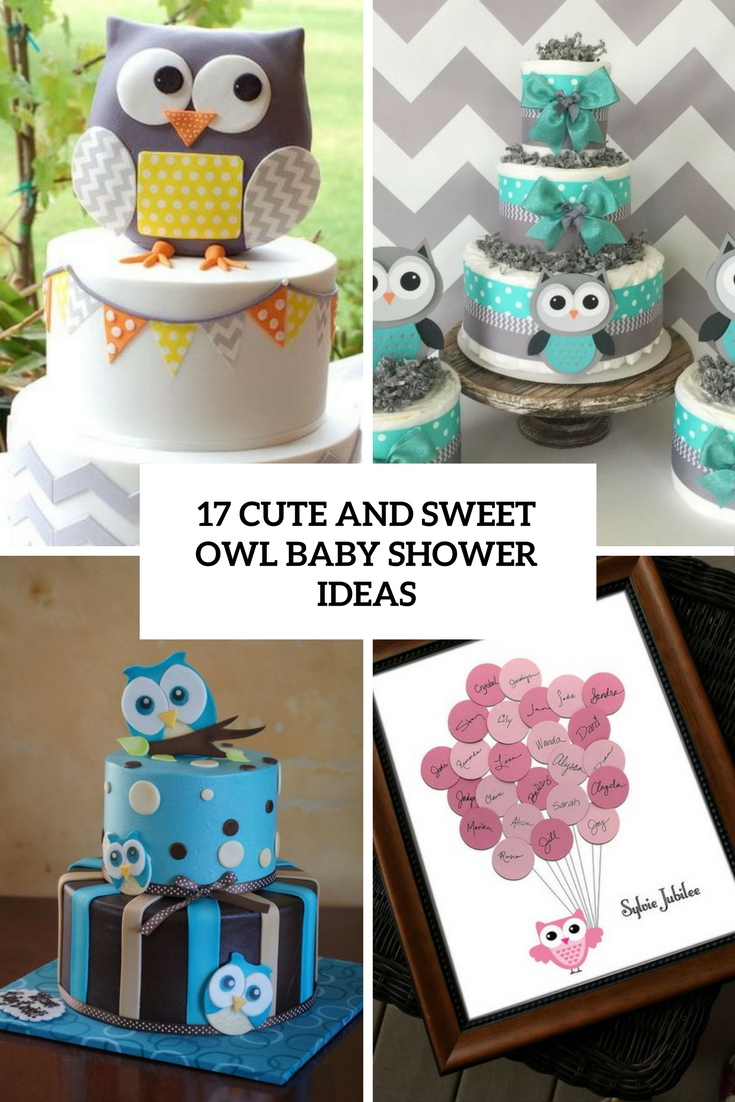 cute and sweet owl baby shower ideas cover