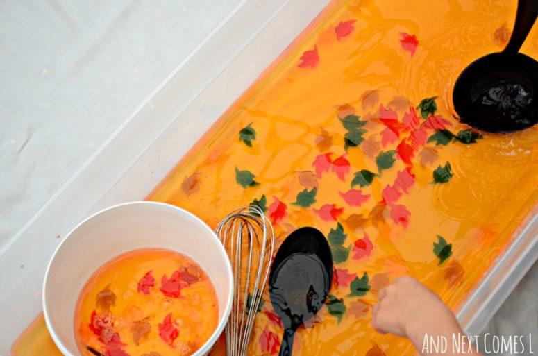 DIY fall sensory soup for kids (via www.andnextcomesl.com)