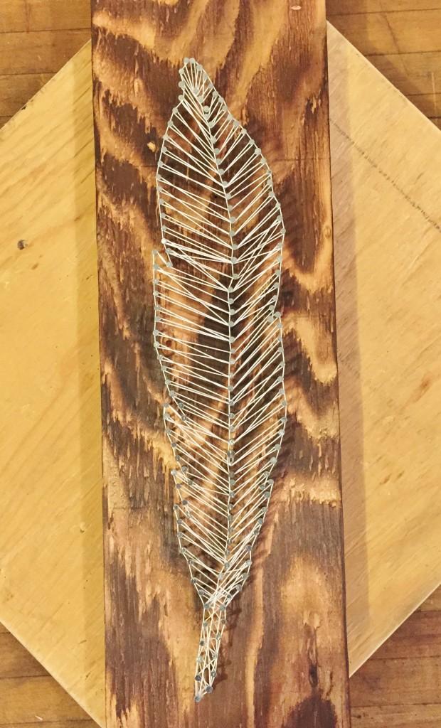 DIY feather string art (via hashtagblessedblog.com)