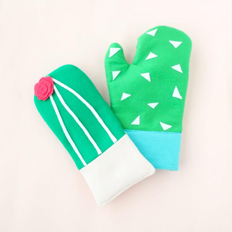 DIY cactus oven mitts (via abeautifulmess.com)