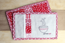 DIY hot pads and oven mits in one