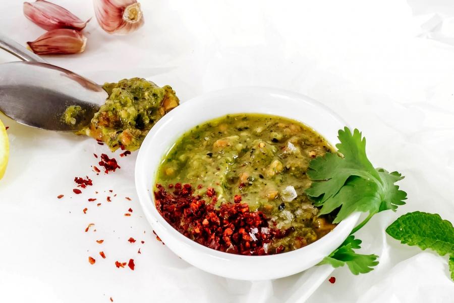 DIY mint coriander sauce