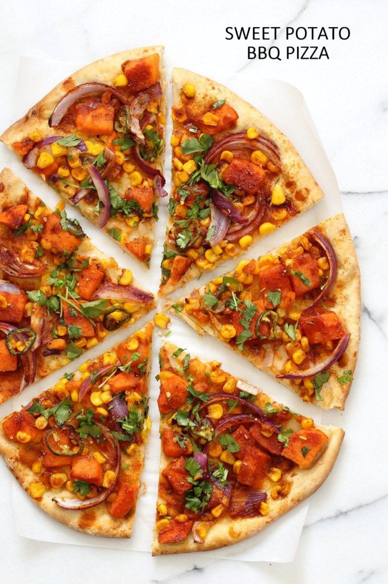 DIY BBQ sweet potato pizza (via www.veganricha.com)