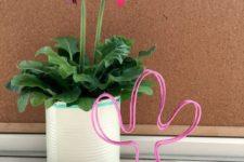 DIY cactus wire photo holder