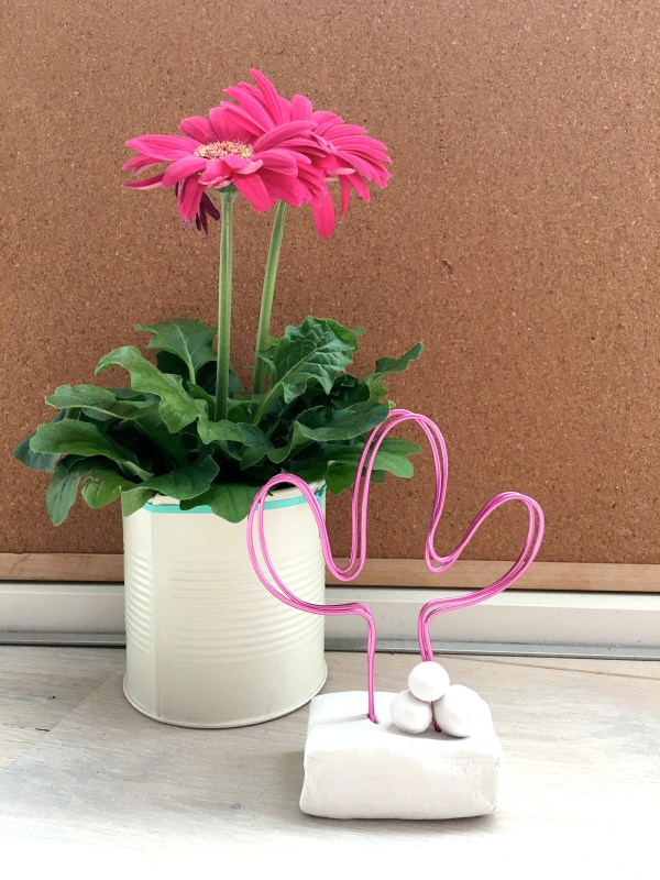 DIY cactus wire photo holder