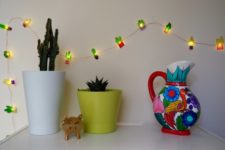 DIY cactus shrinky dink lights