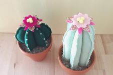 DIY cactus pin cushions