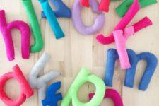 DIY 3D colorful felt letters