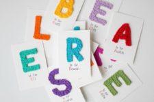 DIY crochet letter cards