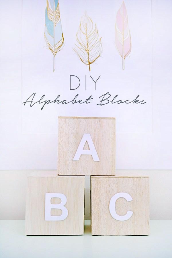 DIY balsa wood alphabet blocks