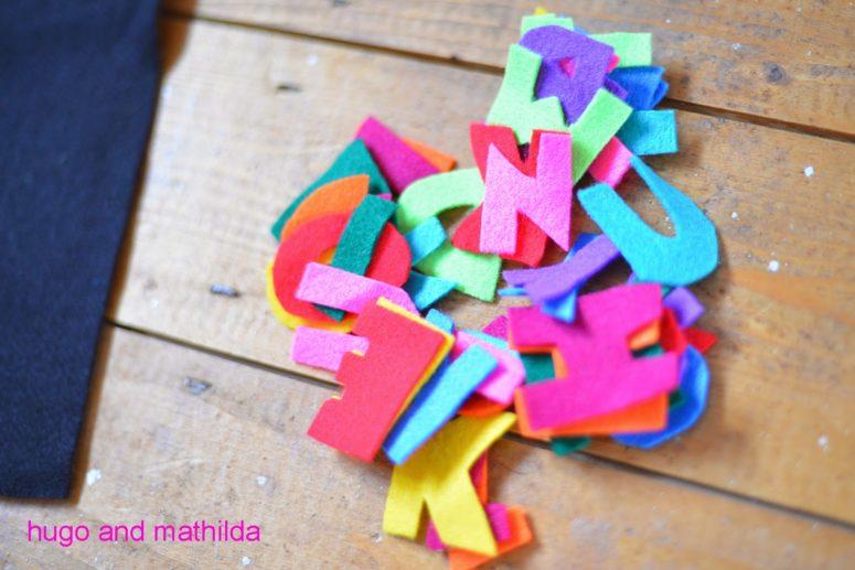 DIY felt letters (via hugoandmathilda.blogspot.ru)