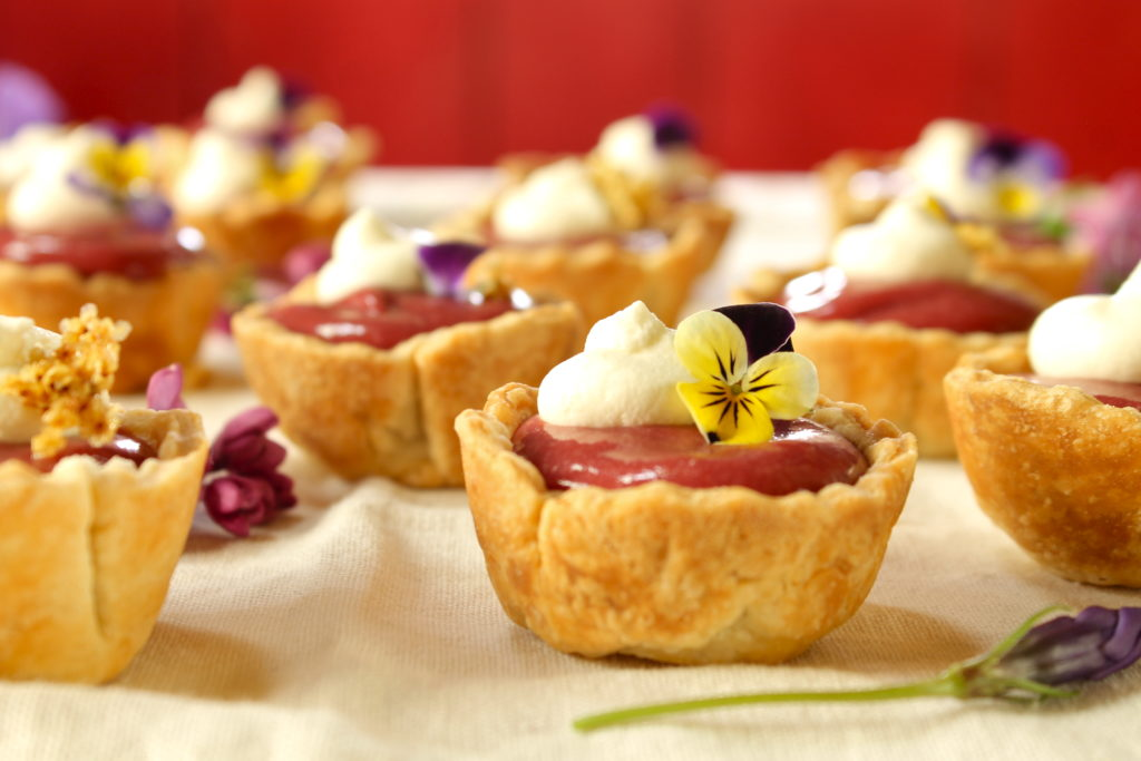 DIY plum and elderberry curd tartlets